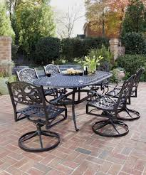 Swivel Outdoor Patio Chairs Cast Iron Patio Furniture Home Styles Table 7 Piece Swivel Outdoor