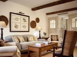 wooden coffee wall cottage style homes with wall and beams and sofa ans arm