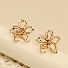 ear studs images handmade knitted flower silver ear studs ear studs flower and