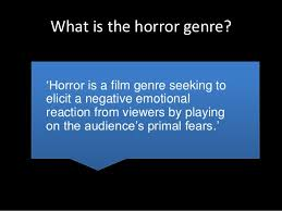 Seeking Genre Horror Genre Research