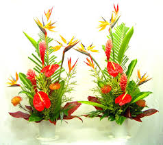 Artificial Flower Decorations For Home Tropical Floral Arrangements Lobby U2013 Home Design And Decor