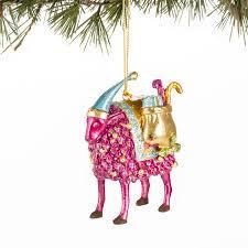 magenta sheep papyrus signature ornament