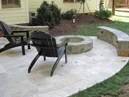 round patio stone stone patio u0027s add great aesthetic appeal to outdoor living spaces