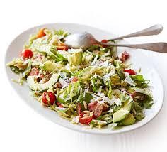 pasta slad bacon avocado warm pasta salad recipe bbc good food