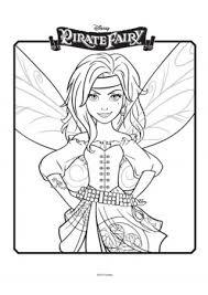 tinkerbell pirate fairy colouring 2