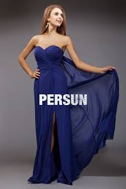 robe mariage bleu robe bleu bustier cœur avec fente latérale persun fr