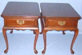 cherry end tables queen anne queen anne end table with drawer convenience concepts gold coast