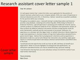 best ideas of cover letter for research job sample with download