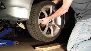 bmw e60 brake rotor change 5 series diy youtube