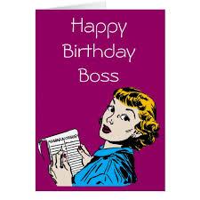 the boss customisable birthday card zazzle com