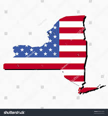 Map Of The State Of New York by Map State New York American Flag Stock Illustration 48414730