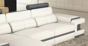 canape cuir blanc et gris canape cuir gris et blanc élégant canape cuir gris description