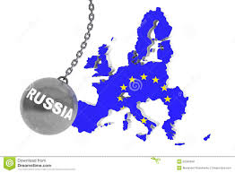 Europe Russia Map Russia Destroy Europe Concept Stock Illustration Image 52040568