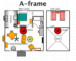a frame cabin plans free a frame house style a free ez architect floor plan for windows