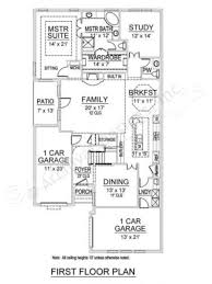 Floor Plan With Elevation by Stone River Narrow House Plans Texas Floor Plans