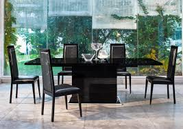 modern black extendable dining table