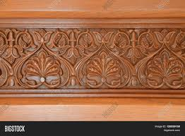 detailed islamic wood carved design image photo bigstock