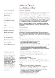 Certified Medical Assistant Resume Samples by Sample Medical Assistant Resume Objective With Medical Assistant