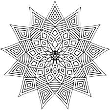 geometric coloring pages free printable geometric coloring pages