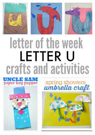letter of the week letter u crafts and activities no time for