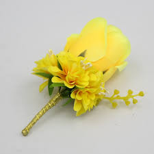wedding flowers groom yellow color wedding flowers groom boutonniere best