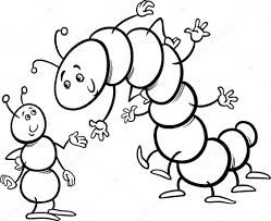caterpillar coloring millipede comstock free