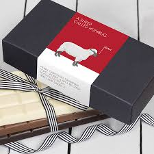 funny christmas chocolate bar box set by quirky gift library