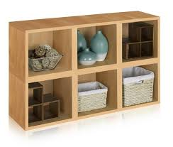 Natural Wood Bookcase Storage Cubes In Natural Wood Grain And Cub Bookcase Cube Storage
