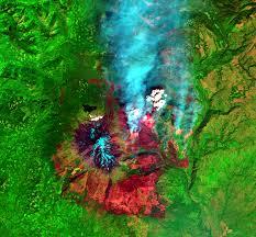 Washington Fire Map by Cougar Creek Fire Washington Usa Earthshots Satellite Images