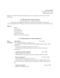 brand ambassador cover letter examples job and resume template