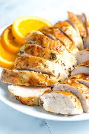 herb turkey recipes thanksgiving garlic herb roasted turkey breast recipe with orange