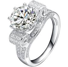 rings diamond design images Luxury 2014 new design excellent round cut 3ct synthetic diamonds jpg