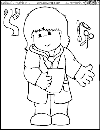 preschool free coloring pages of children doctors saved doctor