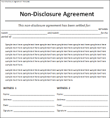 Non Disclosure Statement Template by Non Disclosure Agreement Template Rapidimg Org