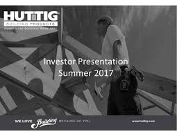 huttig building products hbp presents at cl king 15th annual