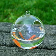 online shop 4sets round shape hanging glass aquarium fish bowl