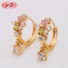 beautiful gold earrings beautiful designed mexican gold earrings for women 2017 jewelry