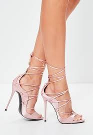 pink satin gladiator sandals missguided