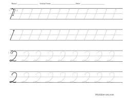 all worksheets number 2 tracing worksheets printable
