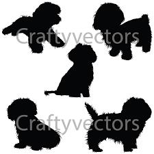zuchon shichon dog silhouettes