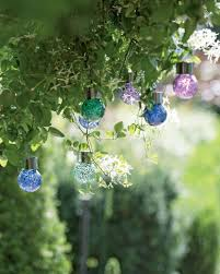 solar globe lights garden mosaic solar light drops set of 3 hanging mini solar globe lights