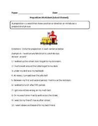 circling prepositions worksheets part 2 english grammar