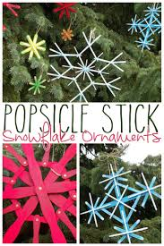 diy popsicle stick snowflake ornaments use craft sticks paint