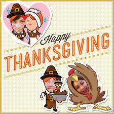 give thanks with custom mojime thanksgiving stickers wechat
