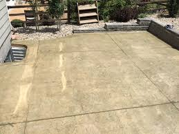 Wood Grain Stamped Concrete by Arapahoe County Co Concrete Contractor Quality Contracting