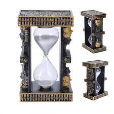 egyptian pharoah sand timer black gold king tut ancient egypt sand