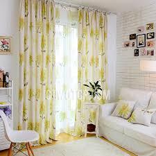 Yellow Bedroom Curtains Room Darkening Decorative Bedroom Yellow Flower Curtains