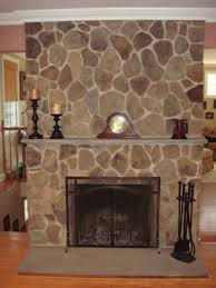 diy fireplace stone work gray stones home decor indoor decorations