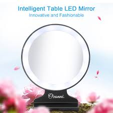ovonni tabletop vanity 5xmagnification cosmetic mirror led lighted