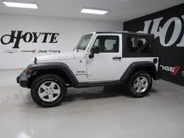 jeep wrangler 2 door sport 2015 jeep wrangler 4x4 2 door suv sport white used suv for sale